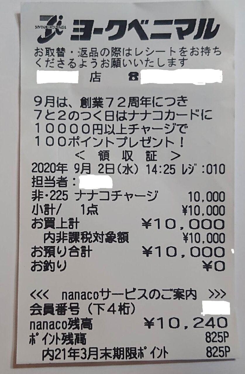 Nanaco マイナポイント