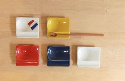 箸置き スプーン 蓮華 置き 醤油皿 小さい皿 クッキ-