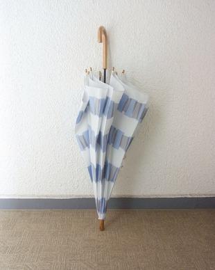 雨 傘 青 グレー