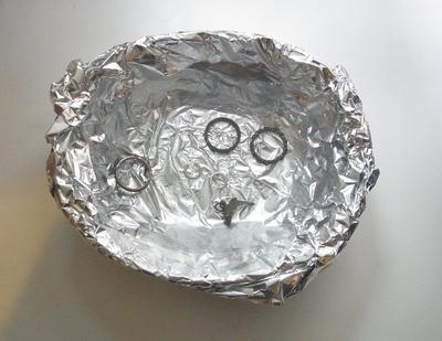 シルバーアクセサリー お湯に重曹