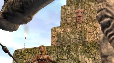 塔に顔が!