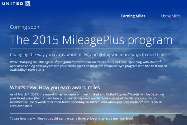 MileagePlus Updates