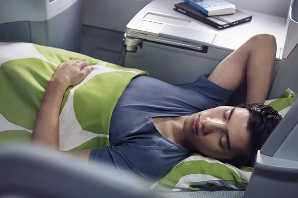 Finnair business man sleeping 01 Low