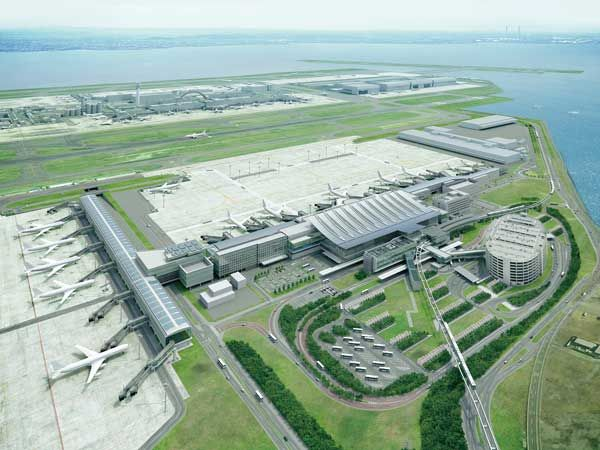東京国際空港国際線旅客ターミナル完成予想図