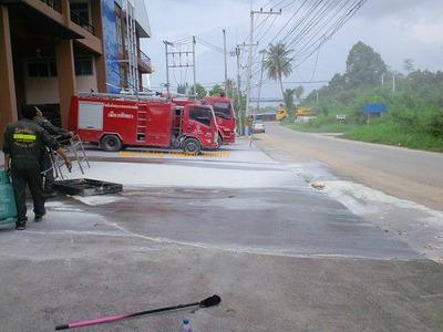タイ消防署 消防訓練