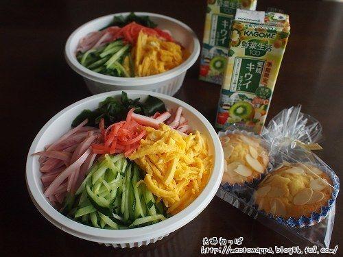 7月2日 冷やし中華弁当とマドレーヌ