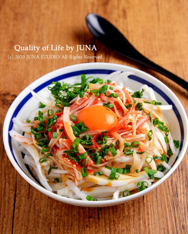 かにかま&新タマの簡単丼/今日のJUNA夫さん弁当