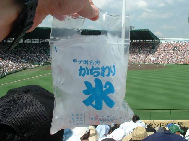 甲子園のかちわり氷(200円)、原価ほぼ0円かwwwwwwww