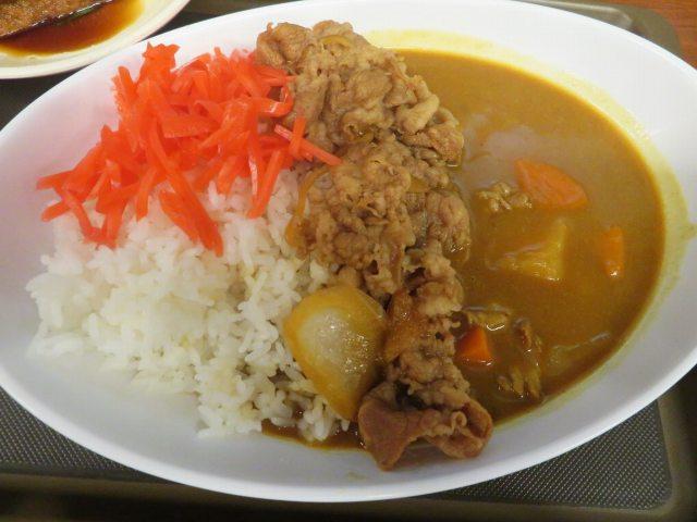 》実食4《 池袋西口「牛丼 牛若丸」で「牛カレー+きつね(厚揚げ)」