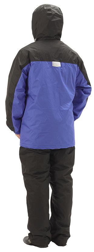 【ヒラノ産業】06139防水防寒レインスーツ着用うしろS