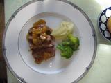 フランス鴨の料理