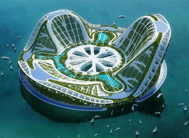 未来の海上都市はこんな感じかもしれない : フリーザ