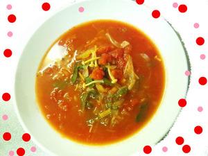 トマトとセロリとショウガのスープっ★