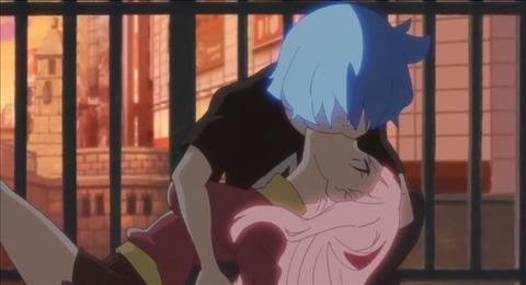 偽マヨにキスで力を吸われるタモツ