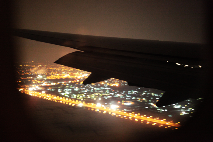 飛行機から見える街