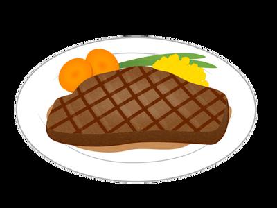 ステーキの無料イラスト