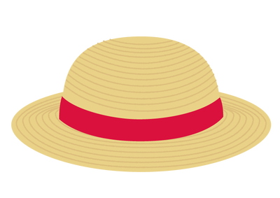 麦わら帽子の無料イラスト