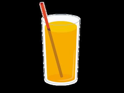 オレンジジュースの無料イラスト