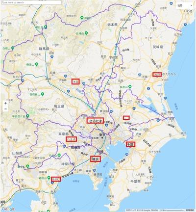 【画像】関東地方の県を現実に合わせて作り直してみたんだけどどう思う?