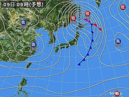 【緊急速報】 日本気象協会「9日 この冬最強クラスの寒気が入る」