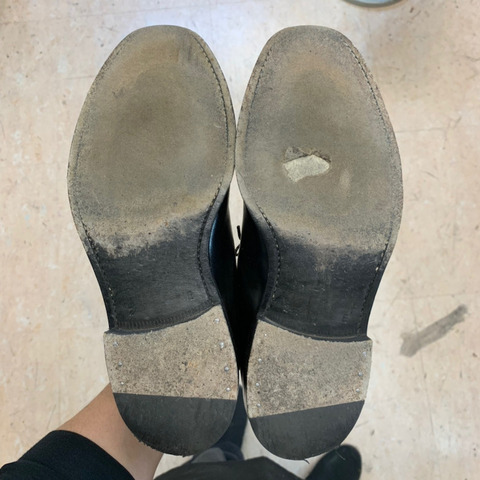 リーガル 靴修理 かかと修理 ハーフソール