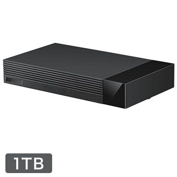 【12時】バッファロー 24時間連続録画対応、静音設計 1TB USB3.1外付けHDD HDV-LLD1U3BA/D 実質3,782円送料無料!