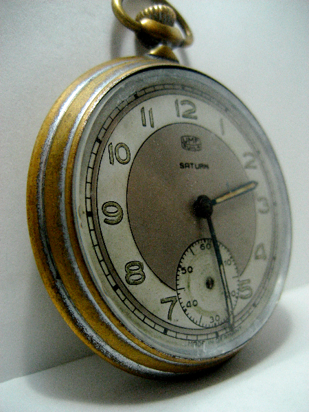Antique Watches, Parts & Accessories Wwii Antique German Pocket Watch Umf Ruhla Saturn Black Dial