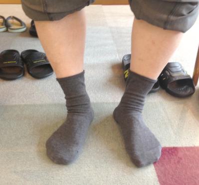 靴を履かない状態