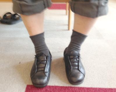 履いてきた靴
