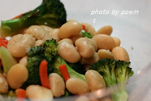 花豆のサラダ