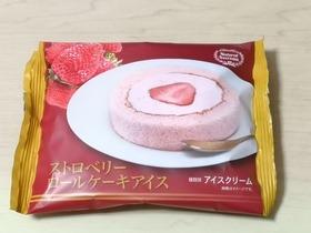 ストロベリーロールケーキアイス