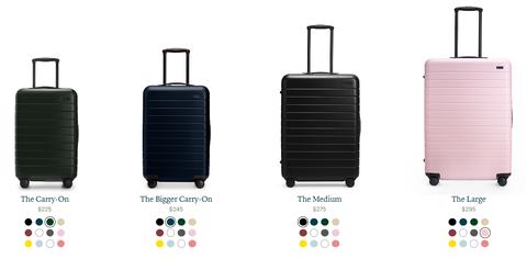 クリスマスプレゼントにお勧めなAWAYのスーツケース 新色ピンクが可愛い 20ドルオフクーポンあり!