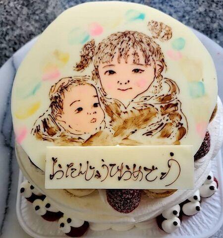 お誕生日(姉と赤ちゃん)