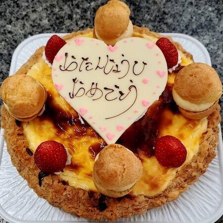 お誕生日チーズタルト