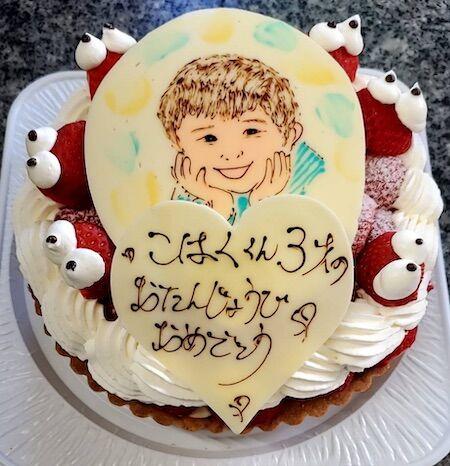 こはく君3歳のお誕生日
