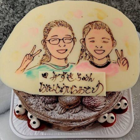 みずきちゃんお誕生日(母とのツーショット)