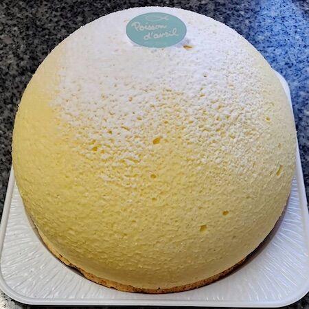 あっさりふわふわのチーズケーキ