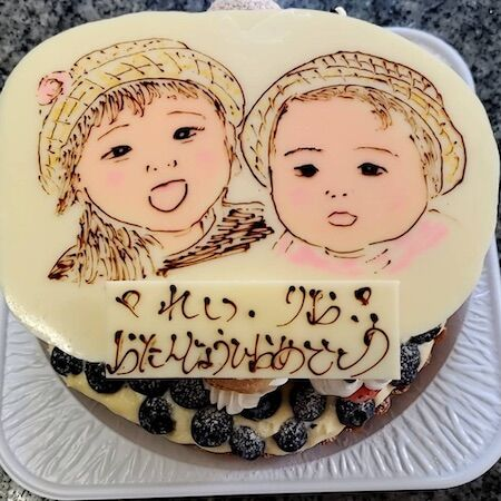 れいちゃんりおちゃんお誕生日