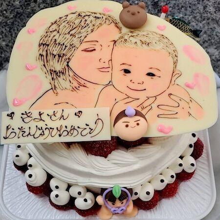 きよさんお誕生日(母子)