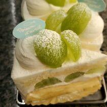 マスカットのケーキ