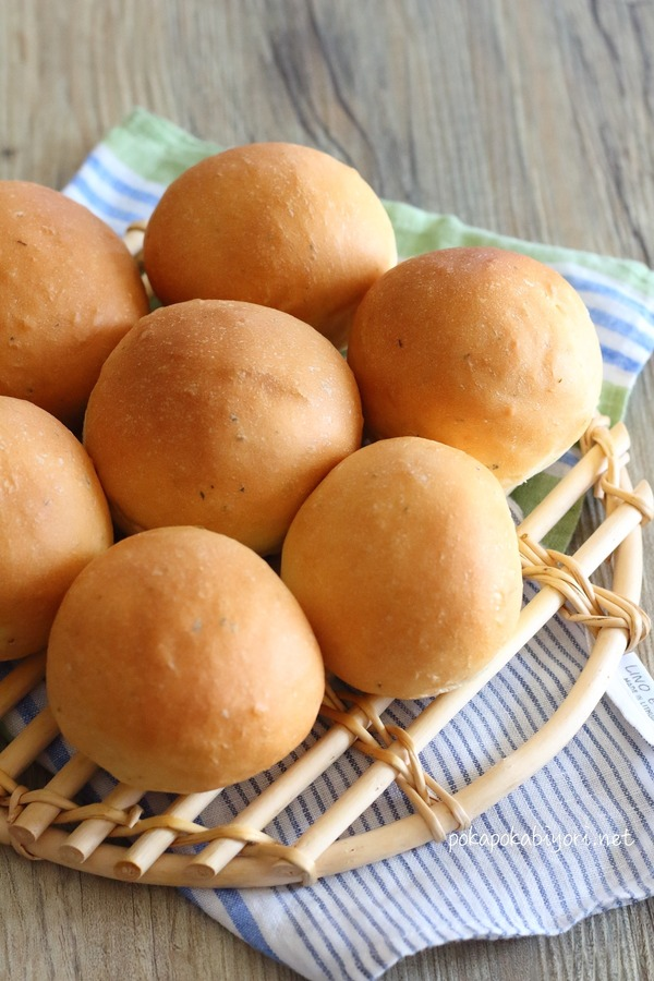 丸パンで手作りハンバーガー