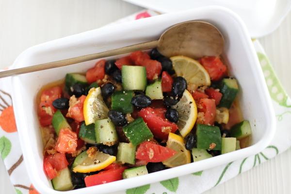 黒豆と夏野菜のマリネ|豆が好きになったのは、これを食べてから