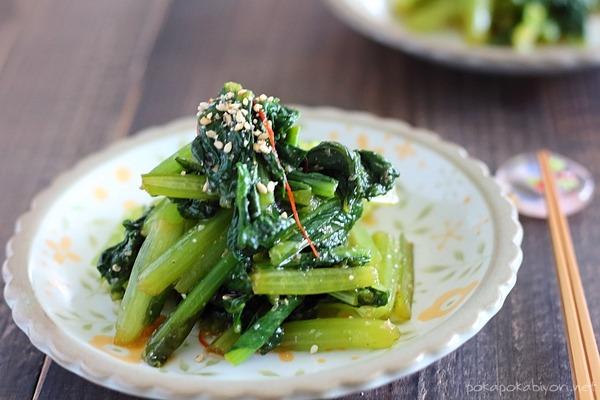 小松菜のオイスターナムル|ヘルシーなのに濃厚な副菜