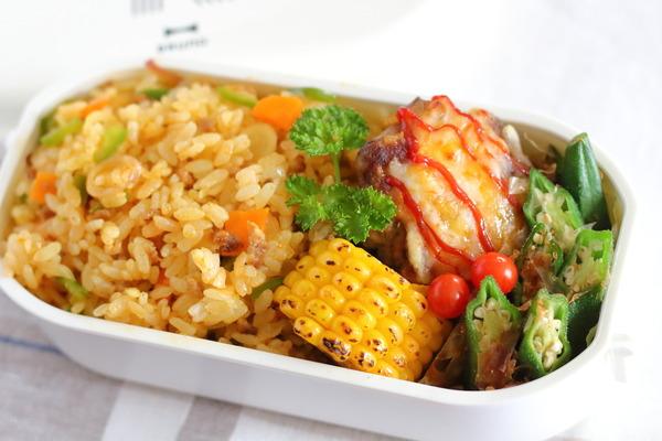 カレー炒飯弁当|弁当おかずがマンネリしてきた時の対処法