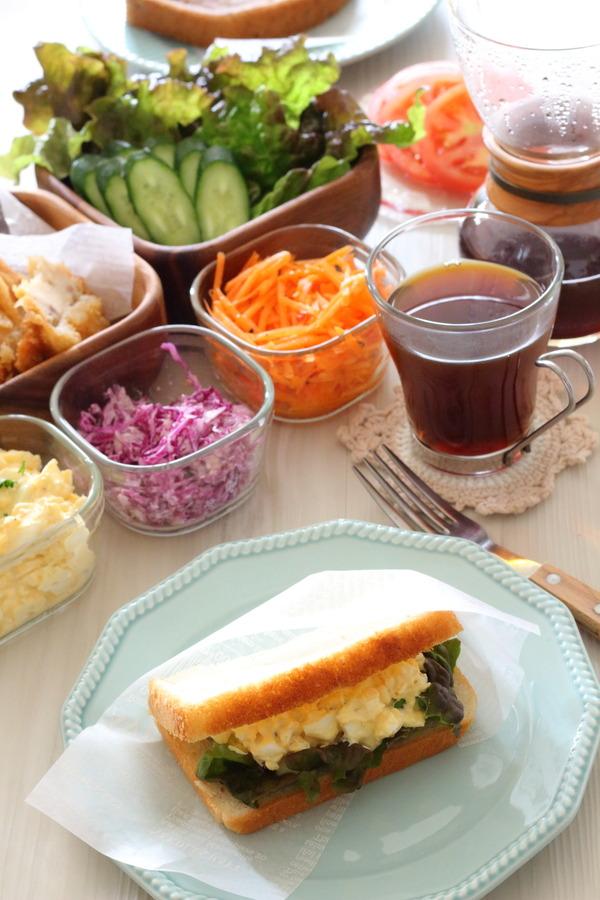 具を準備してセルフサンドウィッチLunch♪ &パンの冷凍保存方法