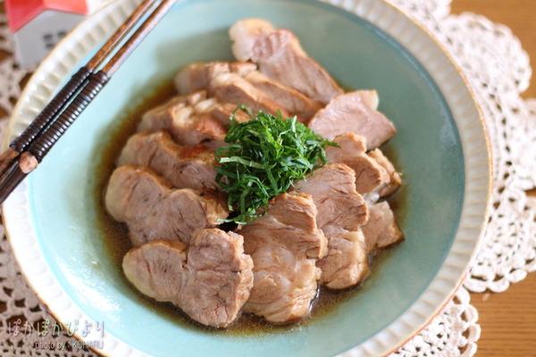 流行りの【味ぽんチャーシュー】を豚肉で &ちくわの美味しい食べ方
