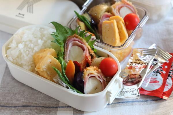 エリンギベーコン巻きのフライ弁当|おすすめの弁当おかずカップ(耐油・耐水・耐熱に優れていてコスパ抜群)