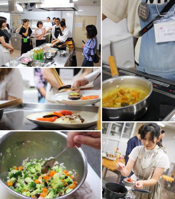 レーズンを使ったコース料理/レーズンイベントのデモ&試食会の様子