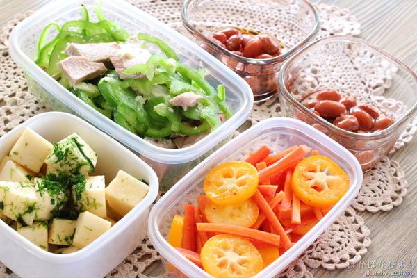 切って混ぜて全部で10分!5種類の副菜レシピ