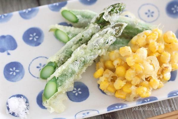 アスパラの天ぷらをおいしく作るコツ|献立例